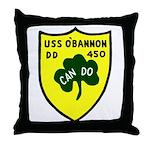USS O'Bannon (DD 450) Throw Pillow