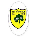 USS O'Bannon (DD 450) Oval Sticker