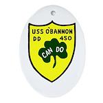 USS O'Bannon (DD 450) Oval Ornament