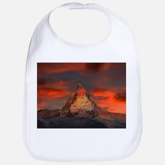 Iconic Alpine Mountain Matterhorn at Sunset Bib