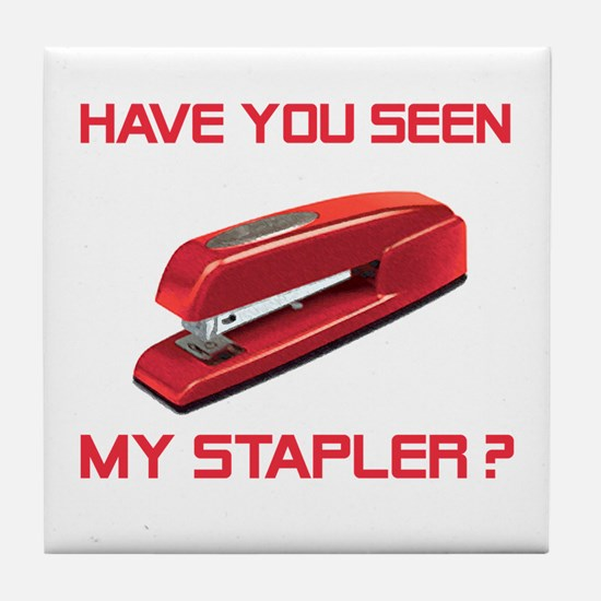 Red Stapler Tile Coaster