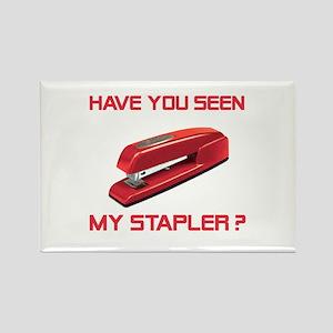Red Stapler Rectangle Magnet