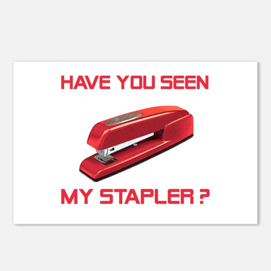 Red Stapler Postcards (Package of 8)