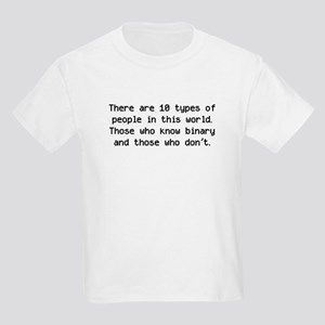 10 Types Of People Kids Light T-Shirt
