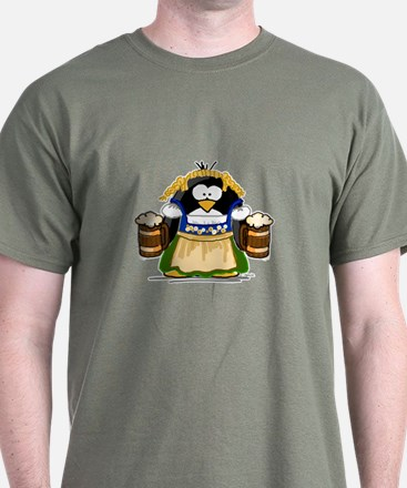 Oktoberfest Girl Penguin T-Shirt