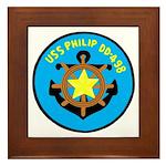 USS Philip (DD 498) Framed Tile