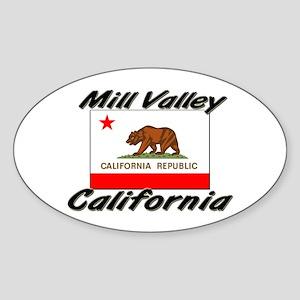Mill Valley California Oval Sticker