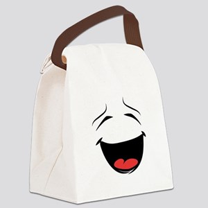 Happy Smiley Face Canvas Lunch Bag