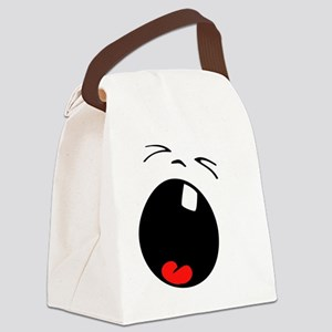 Crying Baby Smiley Face Canvas Lunch Bag