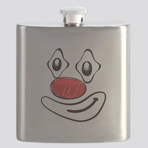 Goofy Clown Yellow Smiley Face Flask