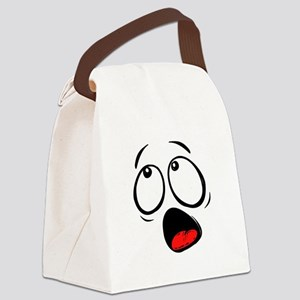 Surprised Yellow Smiley Face Canvas Lunch Bag