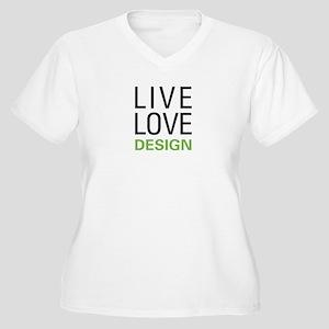 Live Love Design Women's Plus Size V-Neck T-Shirt