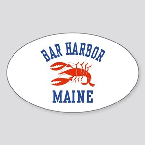 Bar Harbor Maine Oval Sticker