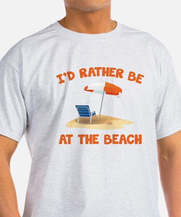 I'd Rather Be At The Beach White T-Shirt