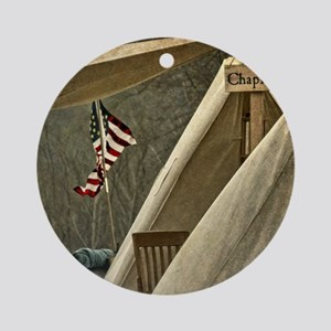 Army Chaplain Round Ornament