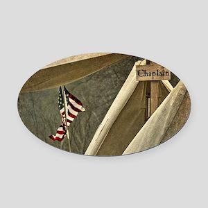 Army Chaplain Oval Car Magnet