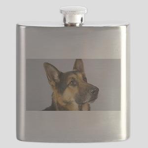 german shepherd Flask