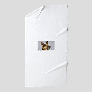 german shepherd Beach Towel
