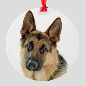 german shepherd Round Ornament