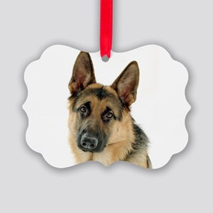 german shepherd Picture Ornament