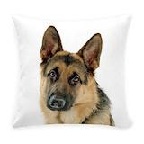 German shepherd Woven Pillows
