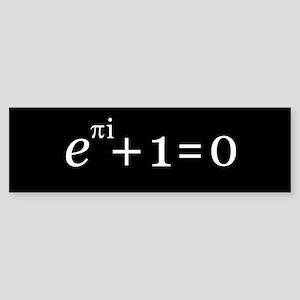Eulers Identity blk big Bumper Sticker