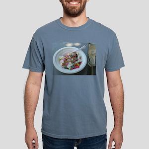 white bowl with vanilla ice cream sundae w T-Shirt