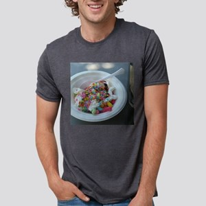 white bowl with vanilla ice cream sundae w T-Shirt