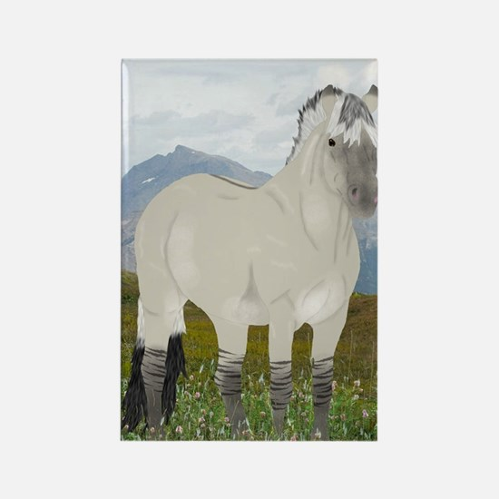 Funny Fjord horse Rectangle Magnet