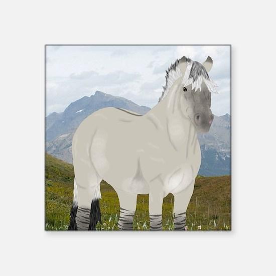 """Funny Fjord horse Square Sticker 3"""" x 3"""""""