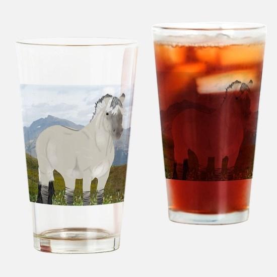 Unique Norwegian fjord horse Drinking Glass