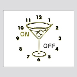 OYOOS Clock Cocktail Glass design Posters