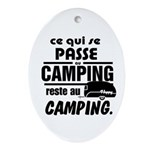 Camping Fr Oval Ornament