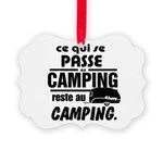 Camping Fr Picture Ornament