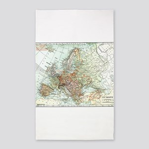 Vintage Map of Europe (1920) Area Rug