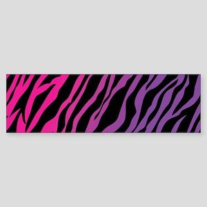 Colored zebra Bumper Sticker