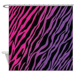 Colorful Zebra Print Shower Curtains