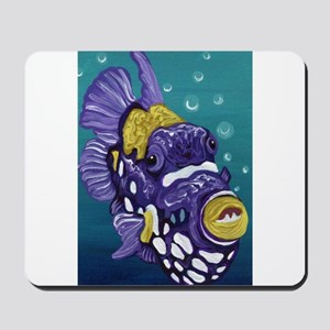 Clown Trigger Fish Mousepad