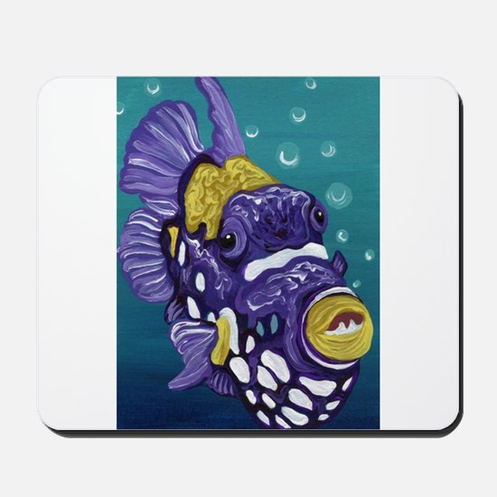 Clown Trigger Fish Mousepad