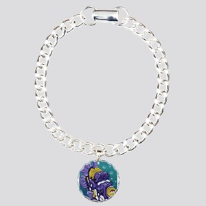Clown Trigger Fish Charm Bracelet, One Charm