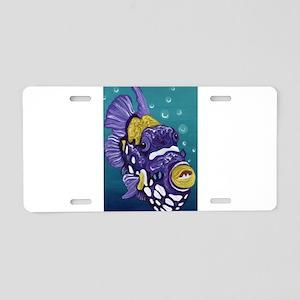 Clown Trigger Fish Aluminum License Plate