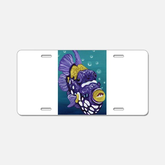 Clown Trigger Fish Aluminum License Plate