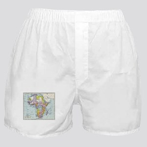 Vintage Map of Africa (1897) Boxer Shorts