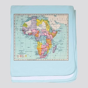 Vintage Map of Africa (1897) baby blanket