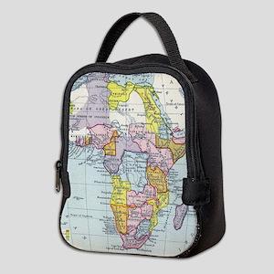 Vintage Map of Africa (1897) Neoprene Lunch Bag