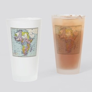 Vintage Map of Africa (1897) Drinking Glass