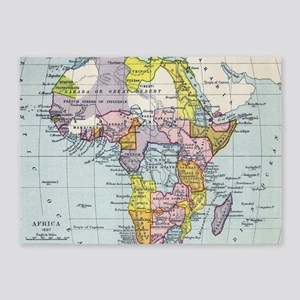 Vintage Map of Africa (1897) 5'x7'Area Rug