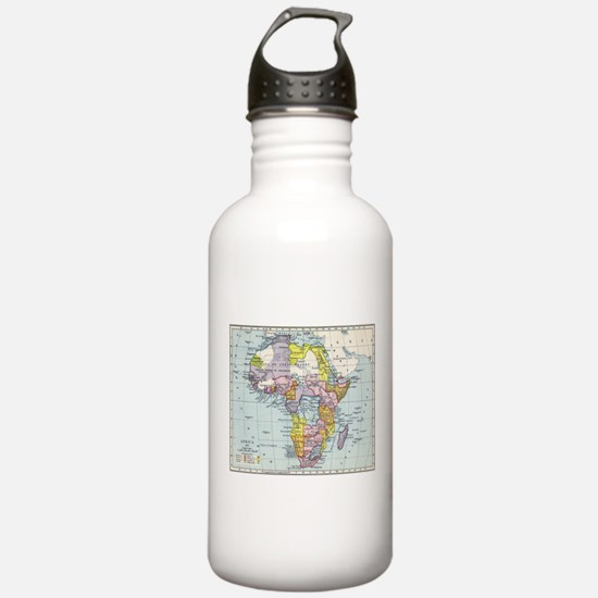 Vintage Map of Africa Water Bottle