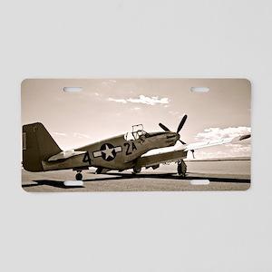 Tuskegee P-51 Aluminum License Plate