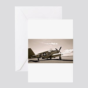 Tuskegee P-51 Greeting Cards